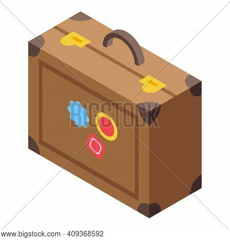 Briefcase Luggage Icon. Isometric Of Briefcase Luggage Vector Icon For Web Design Isolated On White