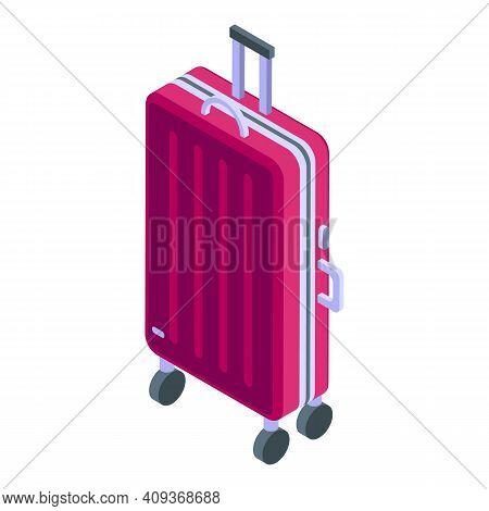Journey Luggage Icon. Isometric Of Journey Luggage Vector Icon For Web Design Isolated On White Back