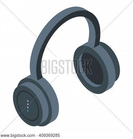 Passenger Headphones Icon. Isometric Of Passenger Headphones Vector Icon For Web Design Isolated On