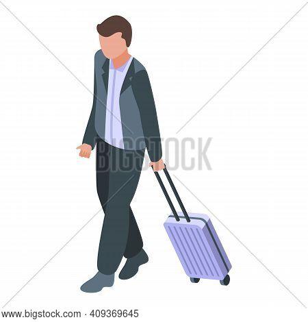 Plane Departure Passenger Icon. Isometric Of Plane Departure Passenger Vector Icon For Web Design Is