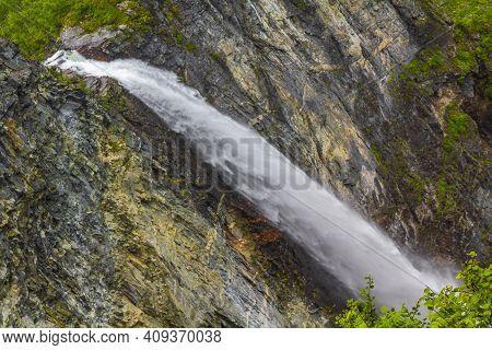 Amazing Highest Waterfall Vettisfossen Utladalen Norway Most Beautiful Norwegian Landscapes.