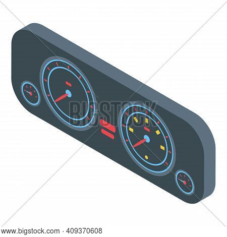 Vehicle Dashboard Icon. Isometric Of Vehicle Dashboard Vector Icon For Web Design Isolated On White