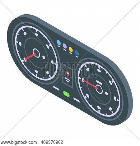 Traffic Dashboard Icon. Isometric Of Traffic Dashboard Vector Icon For Web Design Isolated On White