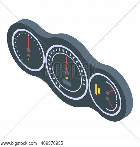 Drive Dashboard Icon. Isometric Of Drive Dashboard Vector Icon For Web Design Isolated On White Back