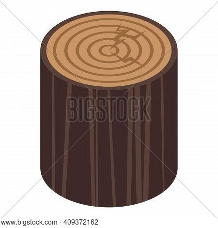 Forest Trunk Icon. Isometric Of Forest Trunk Vector Icon For Web Design Isolated On White Background