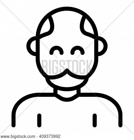 Grandfather Icon. Outline Grandfather Vector Icon For Web Design Isolated On White Background