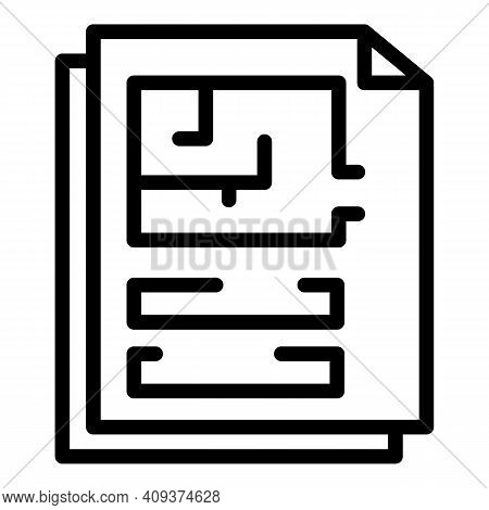 Page Redesign Icon. Outline Page Redesign Vector Icon For Web Design Isolated On White Background