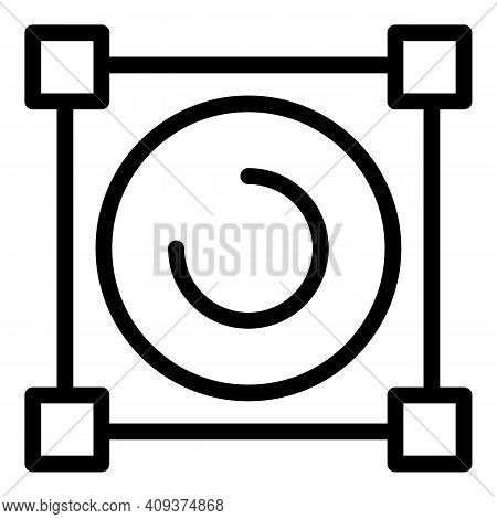Creation Redesign Icon. Outline Creation Redesign Vector Icon For Web Design Isolated On White Backg