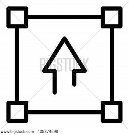 Redesign Tool Icon. Outline Redesign Tool Vector Icon For Web Design Isolated On White Background