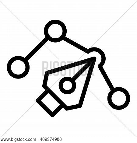 Redesign Graphic Icon. Outline Redesign Graphic Vector Icon For Web Design Isolated On White Backgro