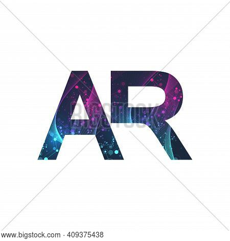 Augmented Reality Concept Banner, Ar. Virtual Reality And Augmented Reality Logo. Modern Technologie