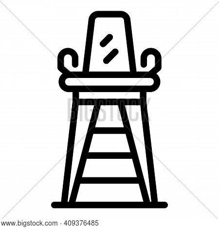 Lifeguard Chair Icon. Outline Lifeguard Chair Vector Icon For Web Design Isolated On White Backgroun