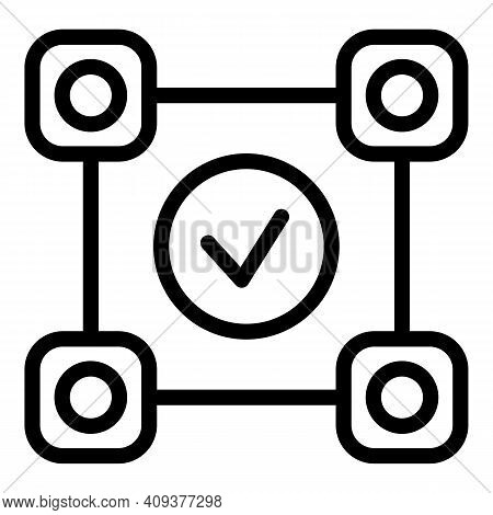 Adaptation Done Icon. Outline Adaptation Done Vector Icon For Web Design Isolated On White Backgroun