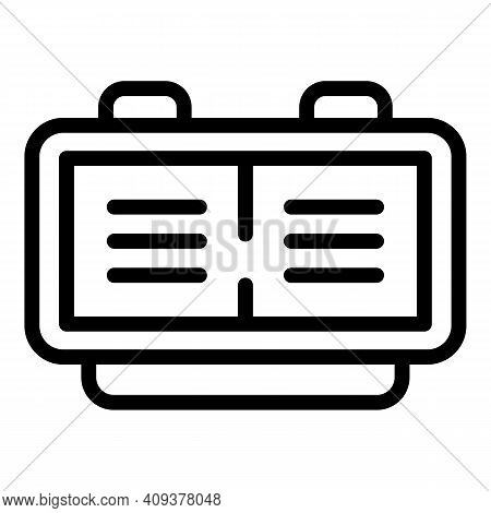 Working Flexible Hours Icon. Outline Working Flexible Hours Vector Icon For Web Design Isolated On W
