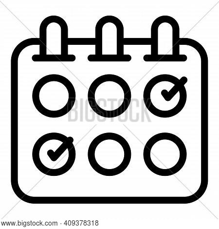 Flexible Working Icon. Outline Flexible Working Vector Icon For Web Design Isolated On White Backgro