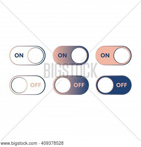 On And Off Switch Toggle Buttons. Easy To Edit And Scalable To Any Size.