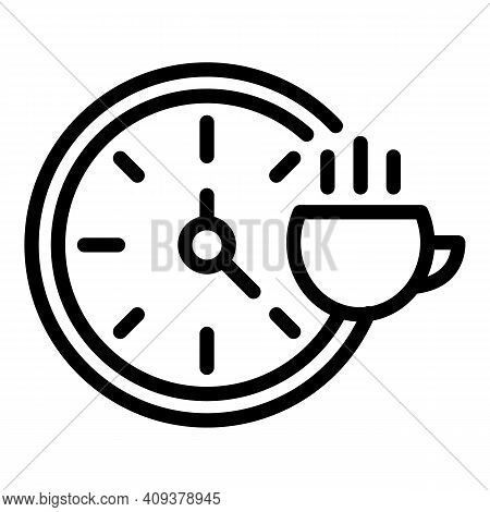 Lunch Hour Icon. Outline Lunch Hour Vector Icon For Web Design Isolated On White Background