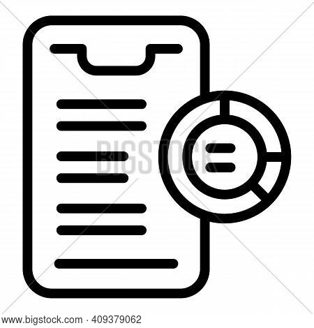 Contribution Report Icon. Outline Contribution Report Vector Icon For Web Design Isolated On White B