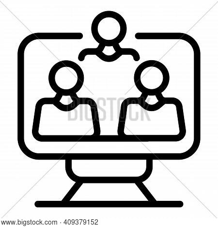 Team Contribution Icon. Outline Team Contribution Vector Icon For Web Design Isolated On White Backg