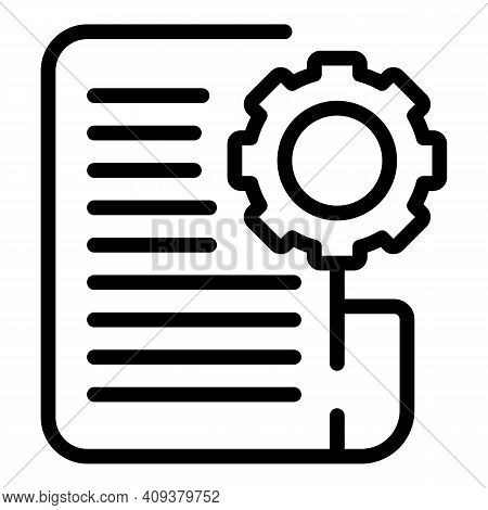 Contribution Plan Icon. Outline Contribution Plan Vector Icon For Web Design Isolated On White Backg
