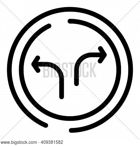 Social Media Repost Icon. Outline Social Media Repost Vector Icon For Web Design Isolated On White B