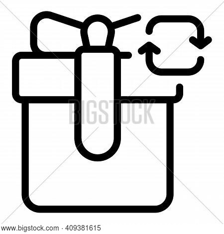 Gift Repost Icon. Outline Gift Repost Vector Icon For Web Design Isolated On White Background