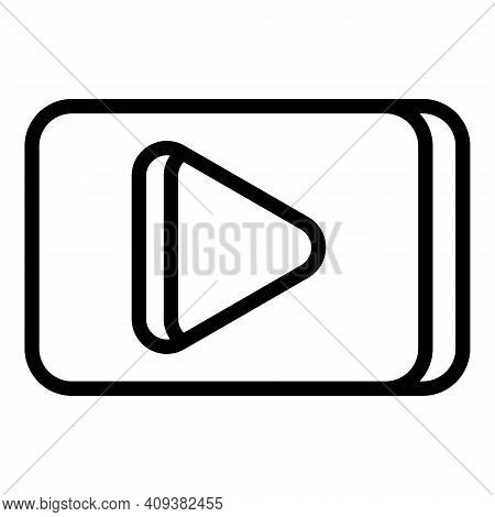 Subscribe Channel Icon. Outline Subscribe Channel Vector Icon For Web Design Isolated On White Backg
