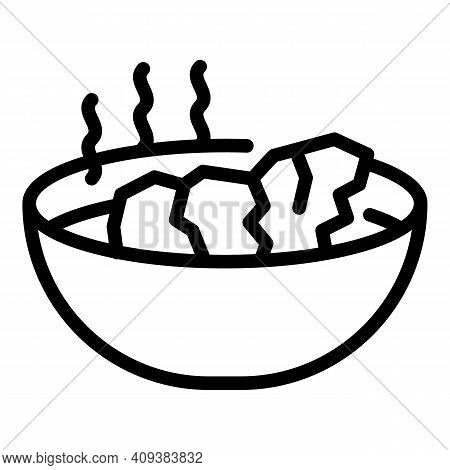 Hot Meal Icon. Outline Hot Meal Vector Icon For Web Design Isolated On White Background