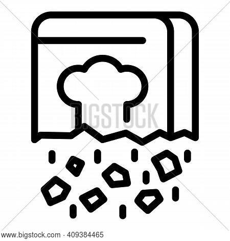 Chef Recipe Icon. Outline Chef Recipe Vector Icon For Web Design Isolated On White Background