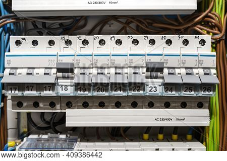 Single-phase Fuses In The Off And On Position And Three-phase Fuses In The Off Position, Placed In T