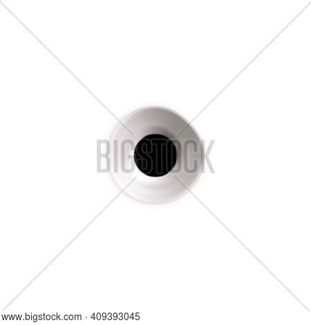 Bullet Holes Target Realistic Composition On Blank Background With Isolated Image Of Bullet Spot Wit