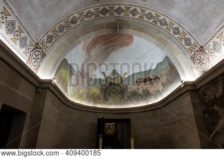Mount Tabor. Israel. January 27, 2020: One Of The Chapels Of The Church Of The Transfiguration On Mo