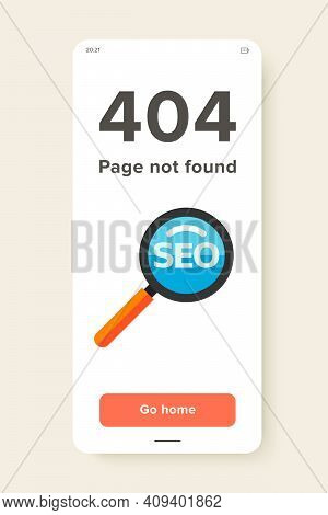 Icon Of Magnifying Glass With Inscription Seo. Marketing, Internet, Optimization. Seo Concept. Can B