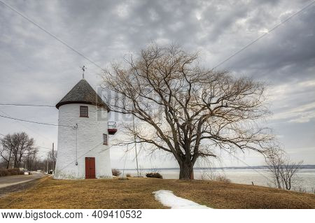 Quebec, Canada- March 14: Moulin Des Hospitalières, A Stone Windmill From Quebec, Canada On [march 1