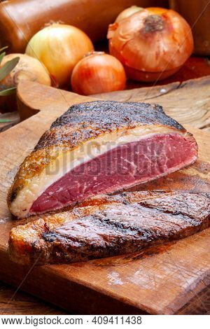 Argentinian picanha, cuadril steak food