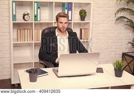 Running Freelance Business. Handsome Man Work Freelance. Freelancer In Office. Freelance Worker. Fre