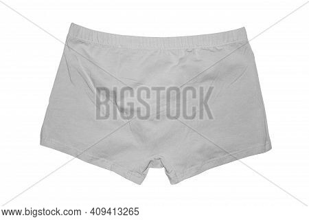 Men\'s Briefs Boxers Isolated On White Background.men\'s Swimming Trunks Boxers On A White Backgroun