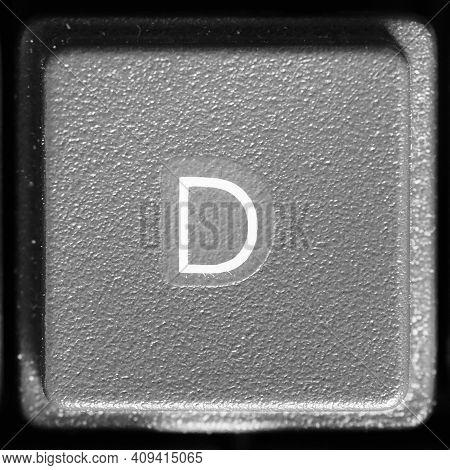 Letter D Key On Computer Keyboard Keypad
