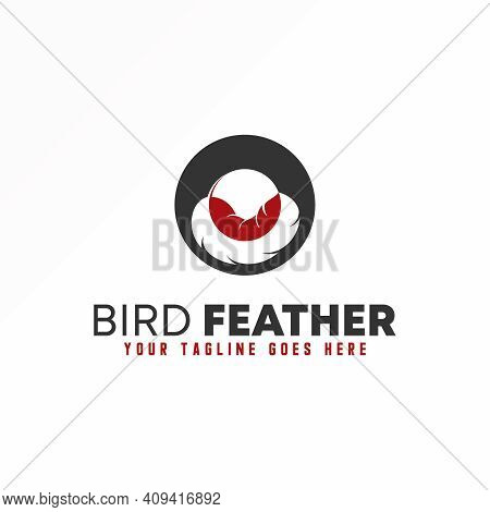 O Logo. Letter O Design Concept. Feather Vector Image. Can Be Used As A Symbol Related To Initial.