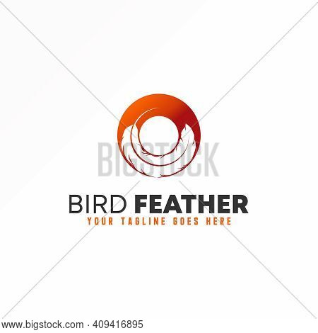 O Logo. Letter O Design Abstract Concept. Feather Vector Image. Can Be Used As A Symbol Related To I