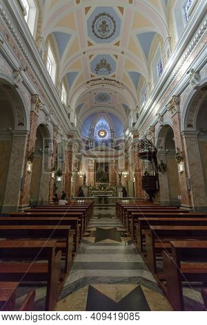 Jaffa, Israel - December 28, 2015: Interior St. Peters Cathedral
