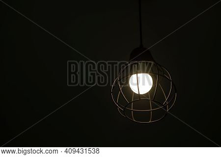 Ceiling Light Round Fixture Decoration In Home At Night