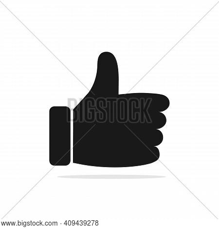 Like Icon. Thumb Up Icon. Illustration Of Agree, Like Or Okay As A Simple Vector Sign, Trendy Symbol