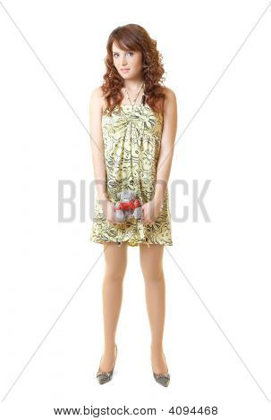 Sexy Girl Isolated On White