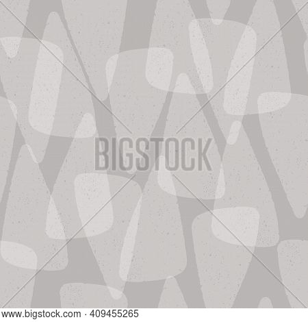 Abstract Texture Background Pattern In Grey. Layered Seamless Vector Repeat Of Hand Drawn Textured T