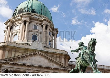View Of The Buda Castle In Budapest, Hungary