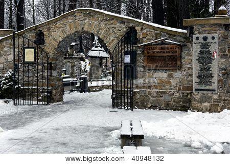Main Gate To Old Cemetery In Zakopane