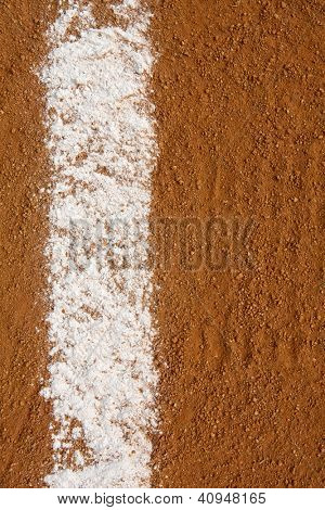 Baseball Infield Chalk Line with room for copy and for Sports Background poster
