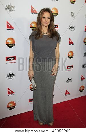 LOS ANGELES - JAN 12: Kelly Preston at the 2013 G'Day USA Los Angeles Black Tie Gala at JW Marriott on January 12, 2013 in Los Angeles, California