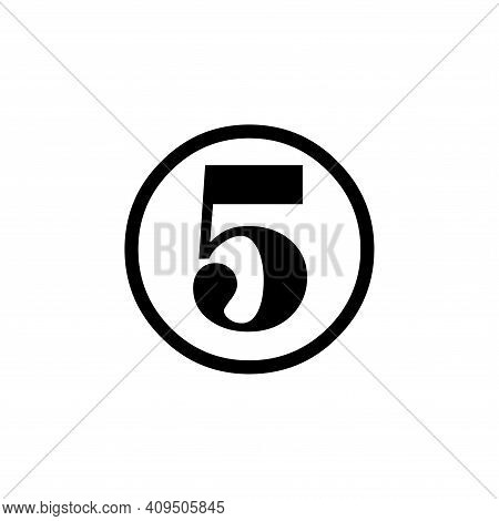 Number 5 Icon Vector. Number 5 Icon Isolated On White Background. Number  5 Icon Simple And Modern.
